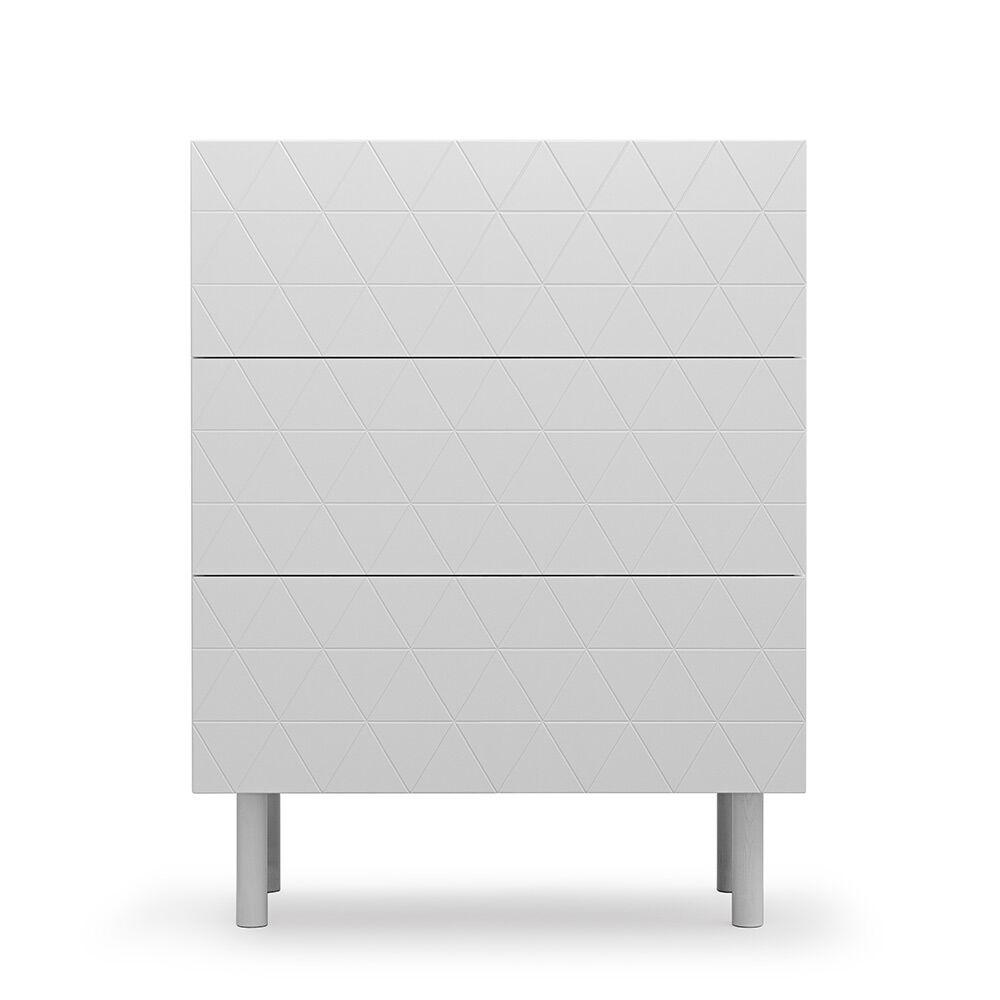 Decotique Abstract E3 Kommode, Lys grå