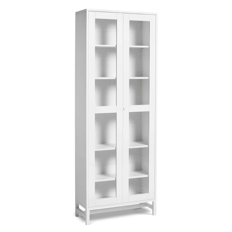 Mavis Falsterbo Cabinet Glass Doors 190 cm, White Lacquer