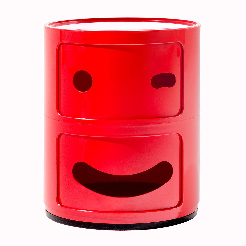 Kartell Componibili Smile Oppbevaring 2 Rom, Rot