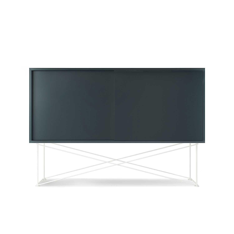 Decotique Vogue Sideboard 136H, Grå/2G/Hvit