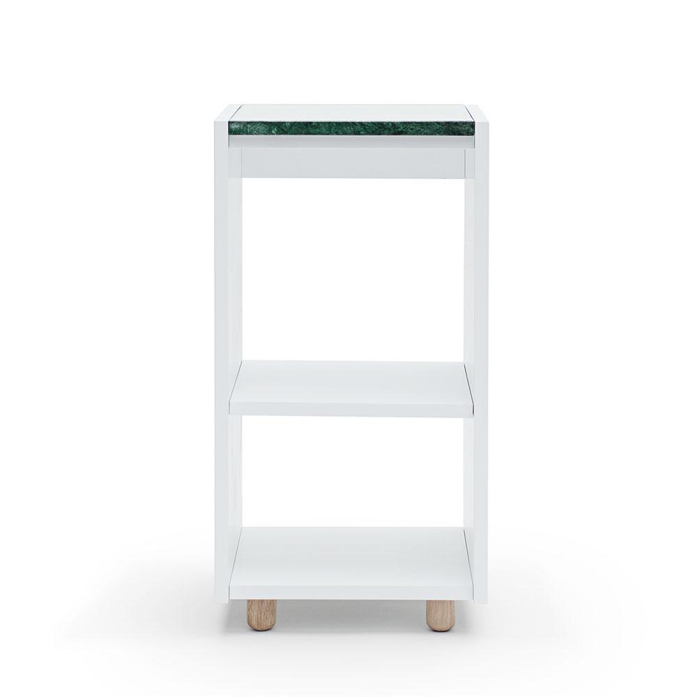 Decotique Loft Nattbord TC, Hvit/Grønn Marmor