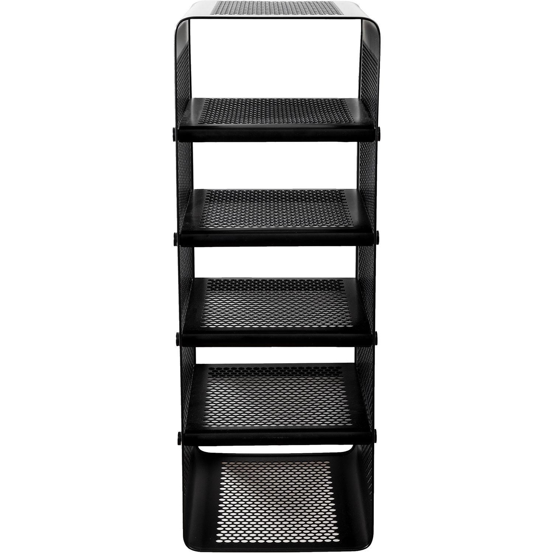 Tica Copenhagen Shoe Rack 25x35x77 cm, Black