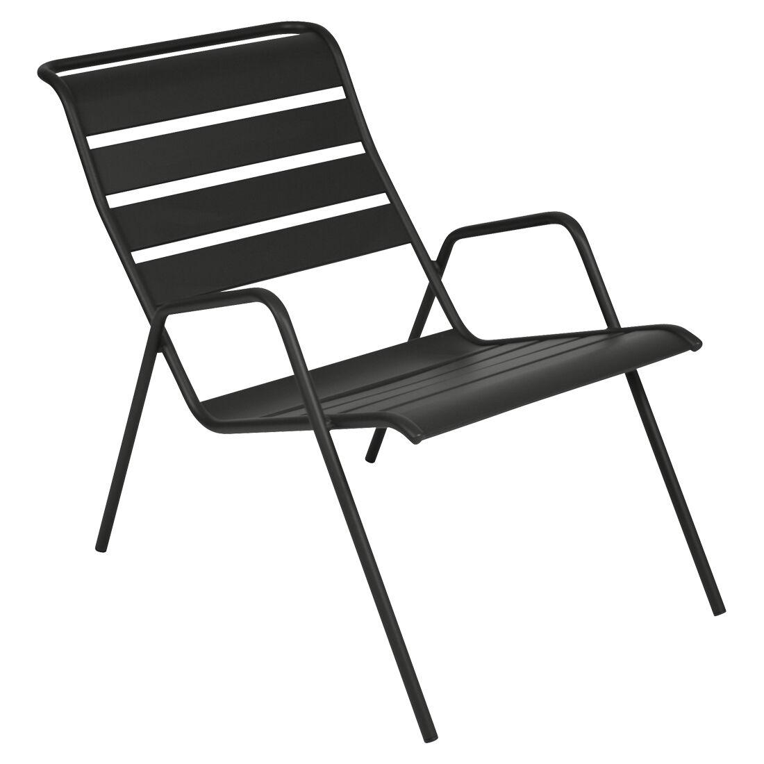Fermob Monceau Lounge Chair, Liquorice