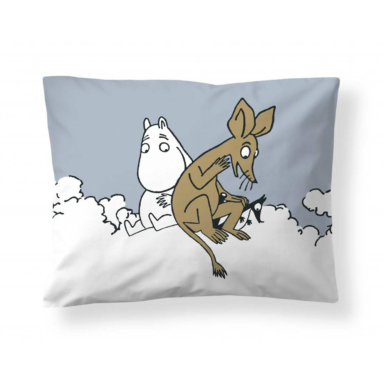 Finlayson Moomin Troll And Sniff Pillowcase 50x60 cm, Light Blue