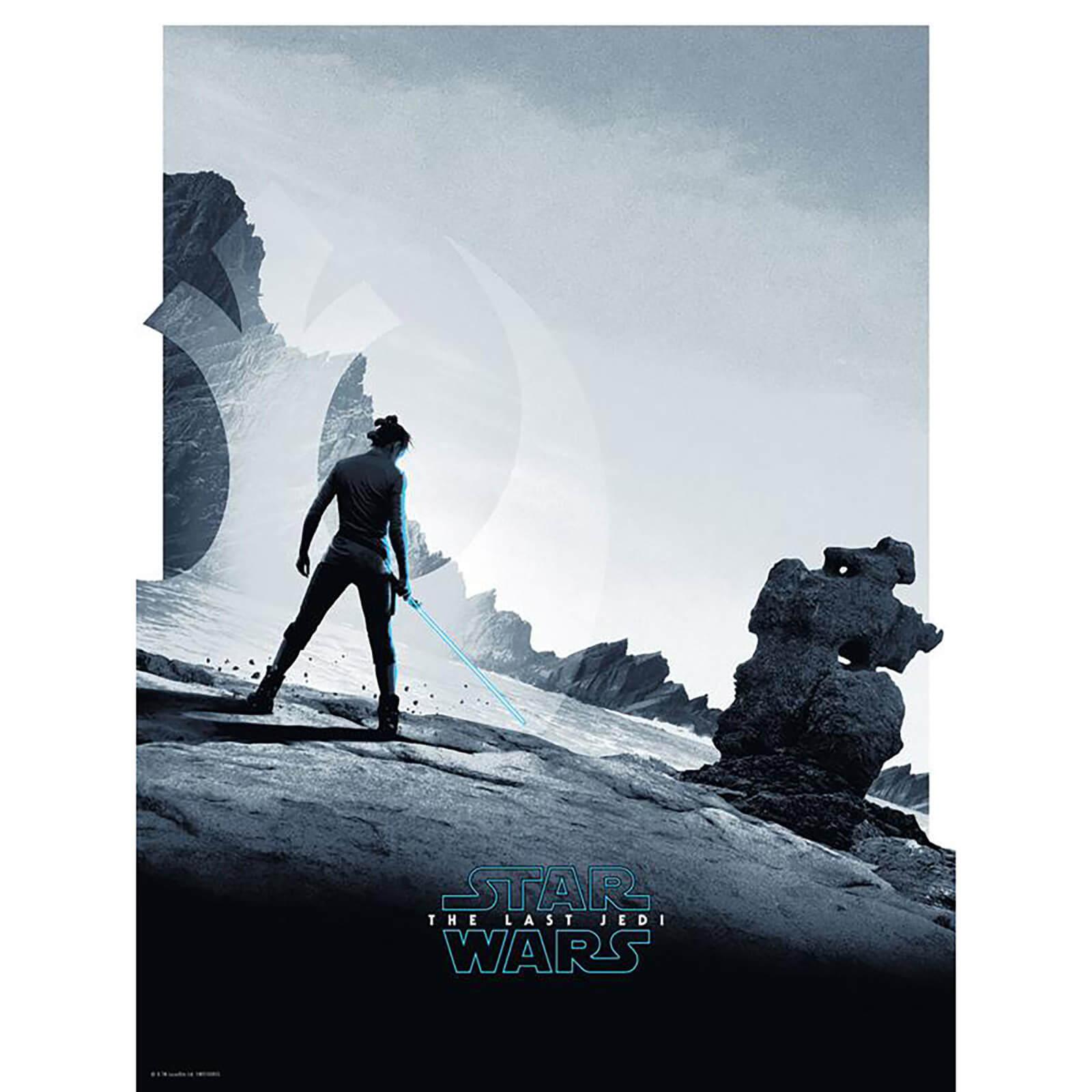 ACME Star Wars The Last Jedi  Rey  18x24 Screenprint by Matt Ferguson - Zavvi UK Exclusive