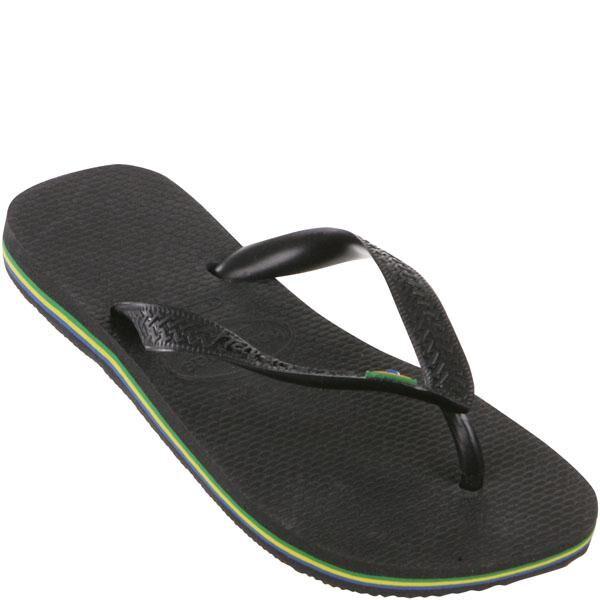 Havaianas Brasil Flip Flops - Black - EU 35-36/UK 3-4 - Black