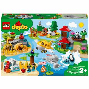 LEGO DUPLO Town: World Animals Toys for Toddlers (10907)