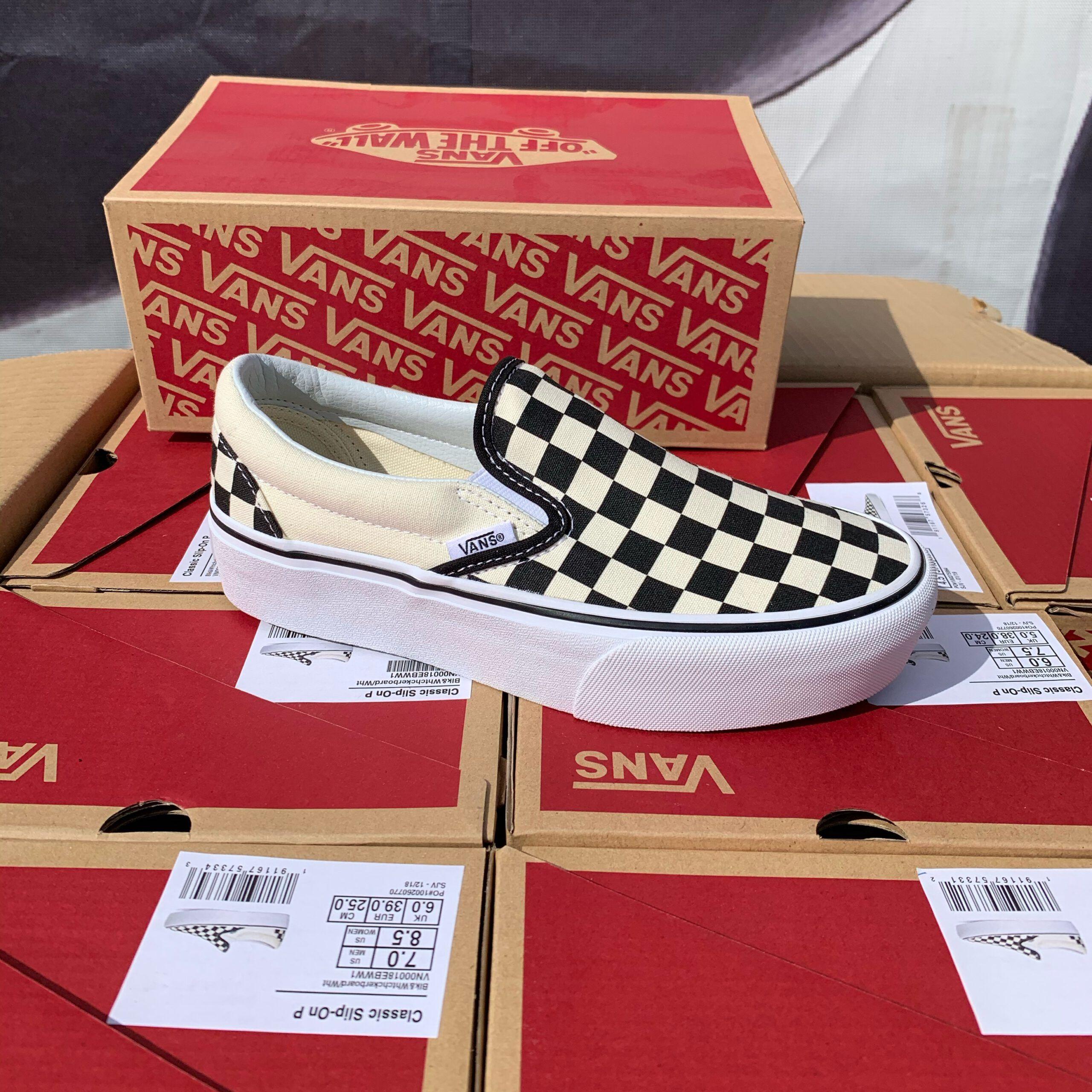 Merker VANS Vans - Classic Slip-On P Black/White/Checkerboard 36