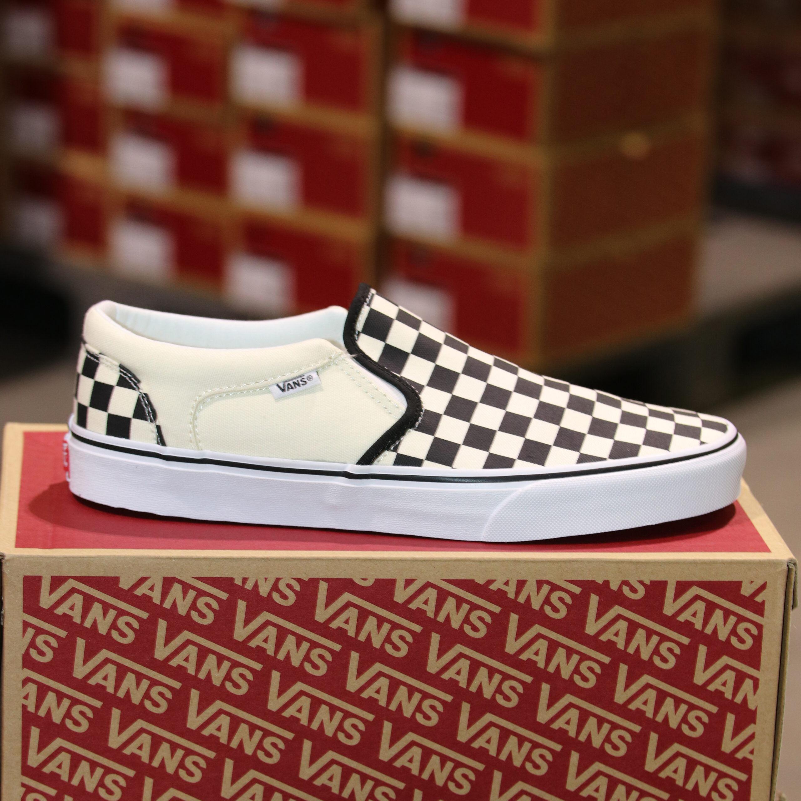 Merker VANS Vans - Asher (Checkers) Black/Natural 45