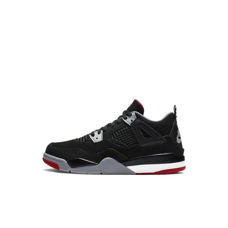 Nike Jordan 4 Retro sko til små barn - Black
