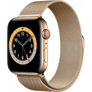Apple Watch 6 Rustfritt Stål Gull Milanese 44mm