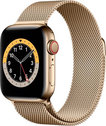 Apple Watch 6 Rustfritt Stål Gull Milanese 40mm