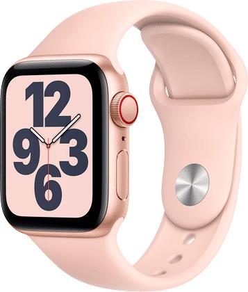 Apple Watch Se Aluminium Gull 40mm, Sandrosa Sport Band
