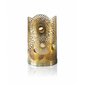 Skultuna Feather Candle Holder Brass