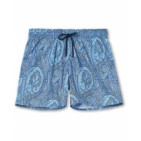 Etro Paisley Swim Trunks Light Blue
