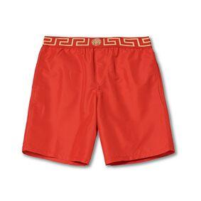 Versace Greca Border Swim Trunks Red