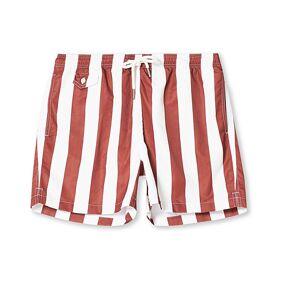 Morris Duke Block Stripe Swimshorts Red/White