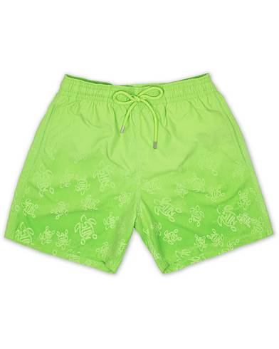 Vilebrequin Moores Aquareactive Turtles Swim Shorts Wasabi Green