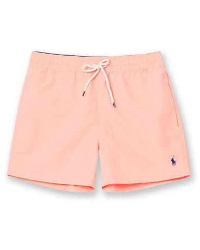 Polo Ralph Lauren Slim Short Traveler Boxer Swimshorts Faded Neon Pink