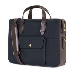 Mismo M/S Nylon Briefcase Navy/Dark Brown