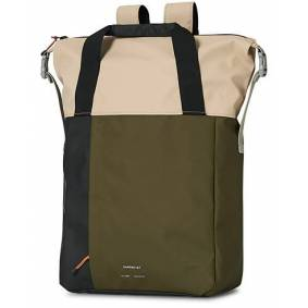 Sandqvist Atle Waterproof Tote Bag Olive/Sand/Black
