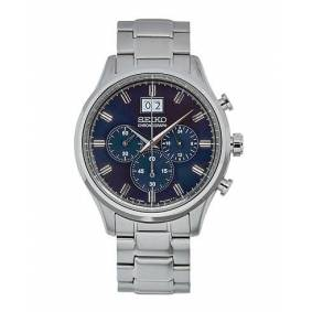 Seiko Chronograph 42mm Steel/Blue Dial