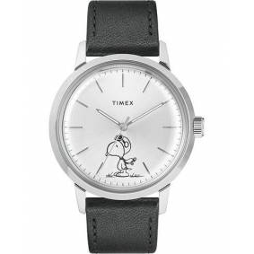 Timex Marlin Snoopy Automatic Silver Dial Black