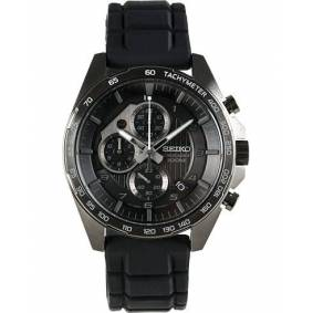 Seiko Chronograph 44mm Rubber/Black Dial