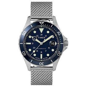 Timex Navi XL Automatic 41mm Steel/Blue Dial