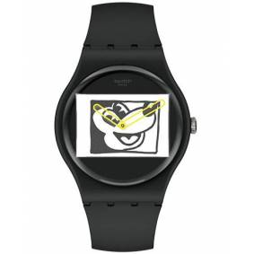 Swatch Swatch x Keith Haring Mickey Blanc sur Noir