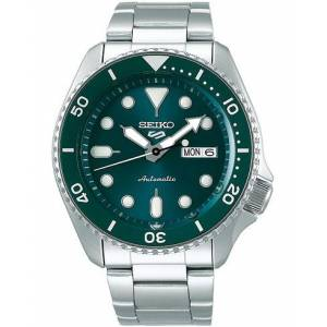 Seiko 5 Sports Mens 43mm 100m Automatic Steel/Green Dial