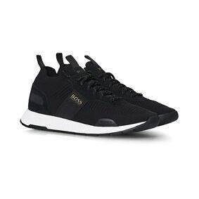 Boss Titanium Mesh Running Sneaker Black/Gold