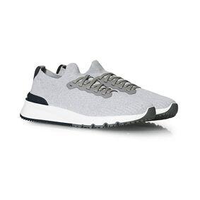 Brunello Cucinelli Mesh Running Sneaker Light Grey