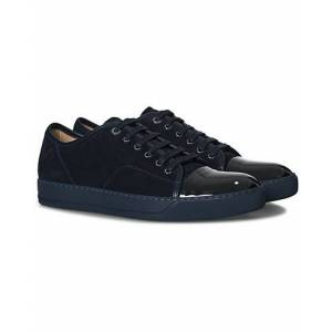Lanvin Patent Cap Toe Sneaker Navy/Navy