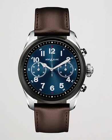 Montblanc Summit2 42mm Smartwatch Steel Bicolor / Brown Calf