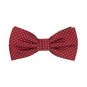 Amanda Christensen Micro Dot Pre Tie Silk Wine Red