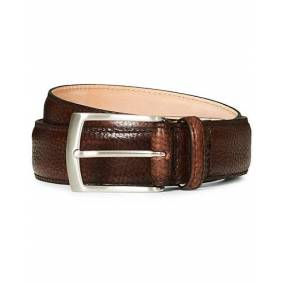 Loake 1880 Henry Grained Leather Belt 3,3 cm Dark Brown