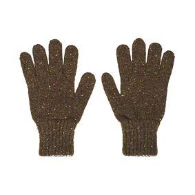 Drake's Classic Donegal Merino Gloves Green/Grey