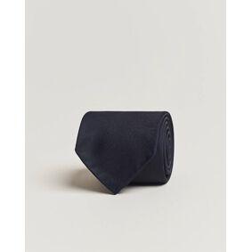 Drake's Handrolled Woven Silk 8 cm Tie Navy