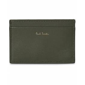 Paul Smith Credit Card Case Interior Multi Olive