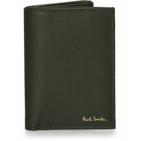 Paul Smith Trifold Striped Wallet Olive