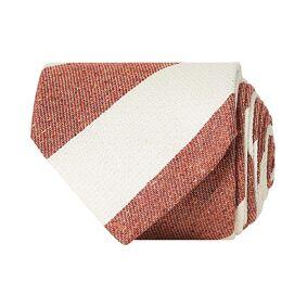 Amanda Christensen Silk/Cotton Bourette Striped 8 cm Tie Rust