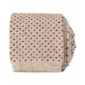 Brunello Cucinelli Cashmere Knitted Tie Beige
