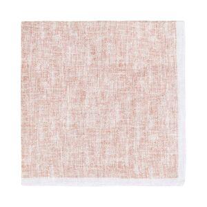 Amanda Christensen Plain With Paspoal Linen Pocket Square Brown