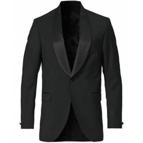 Tiger of Sweden Janson Tuxedo Shawl Collar Blazer Black