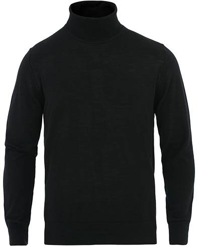 Samsøe & Samsøe Flemming Superfine Merino Wool Roll Neck Black