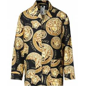 Versace Medusa Silk Shirt Black/Gold