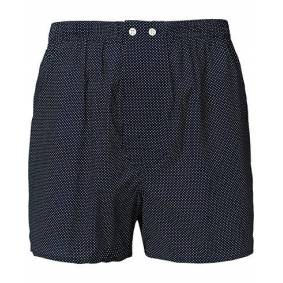 Derek Rose Classic Fit Cotton Boxer Shorts Navy Polka Dot