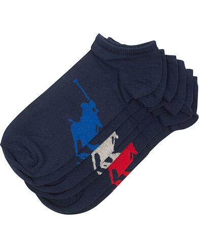 Polo Ralph Lauren 3-Pack Sneaker Big Pony Socks Navy