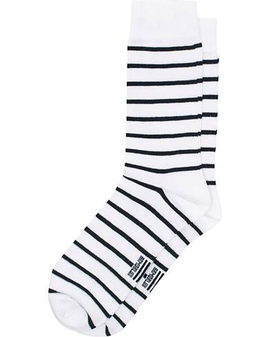 Armor-lux Loer Stripe Sock White/Rich Navy